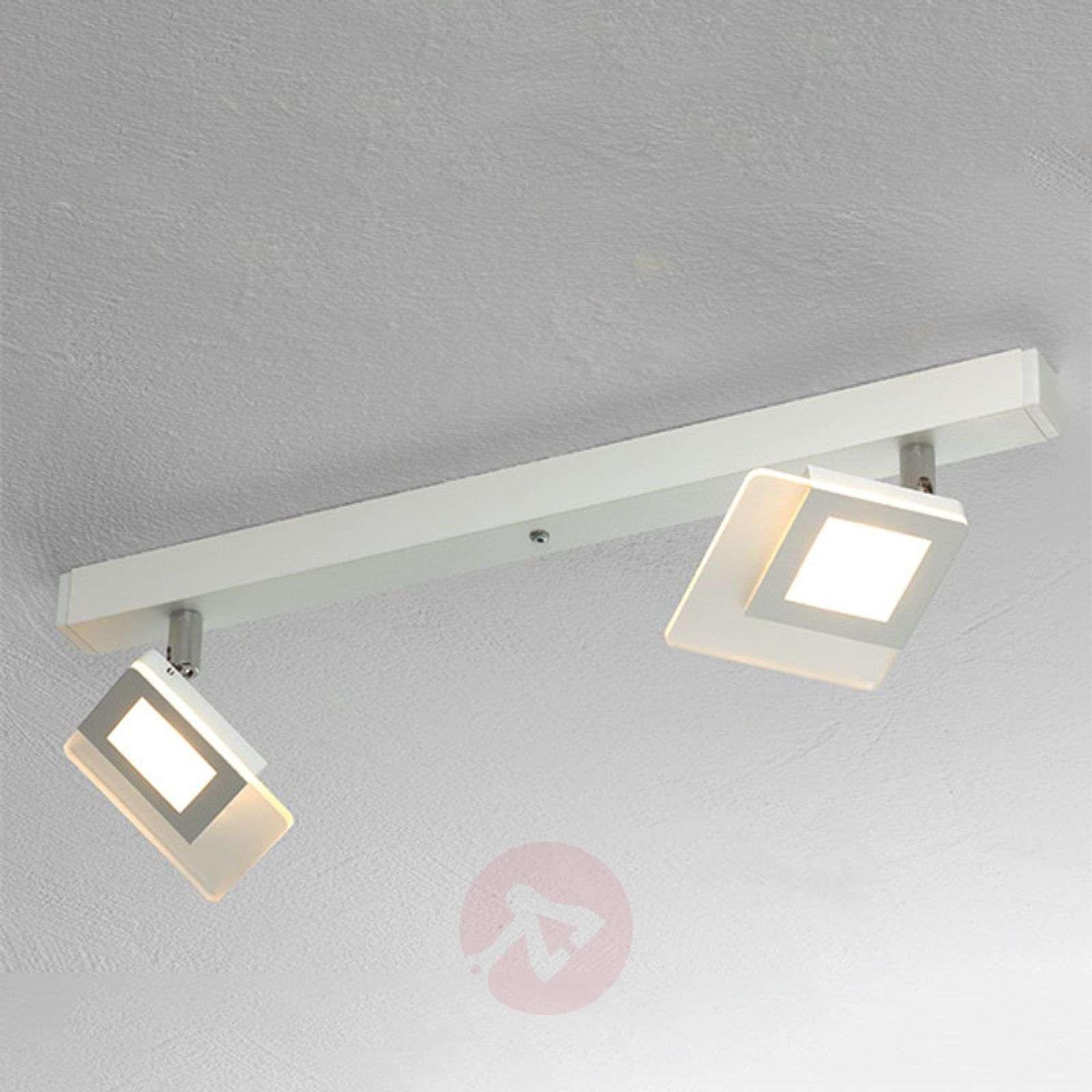 Kaunis LED-kattovalaisin Line valk. 2-lamppuinen-1556071-01