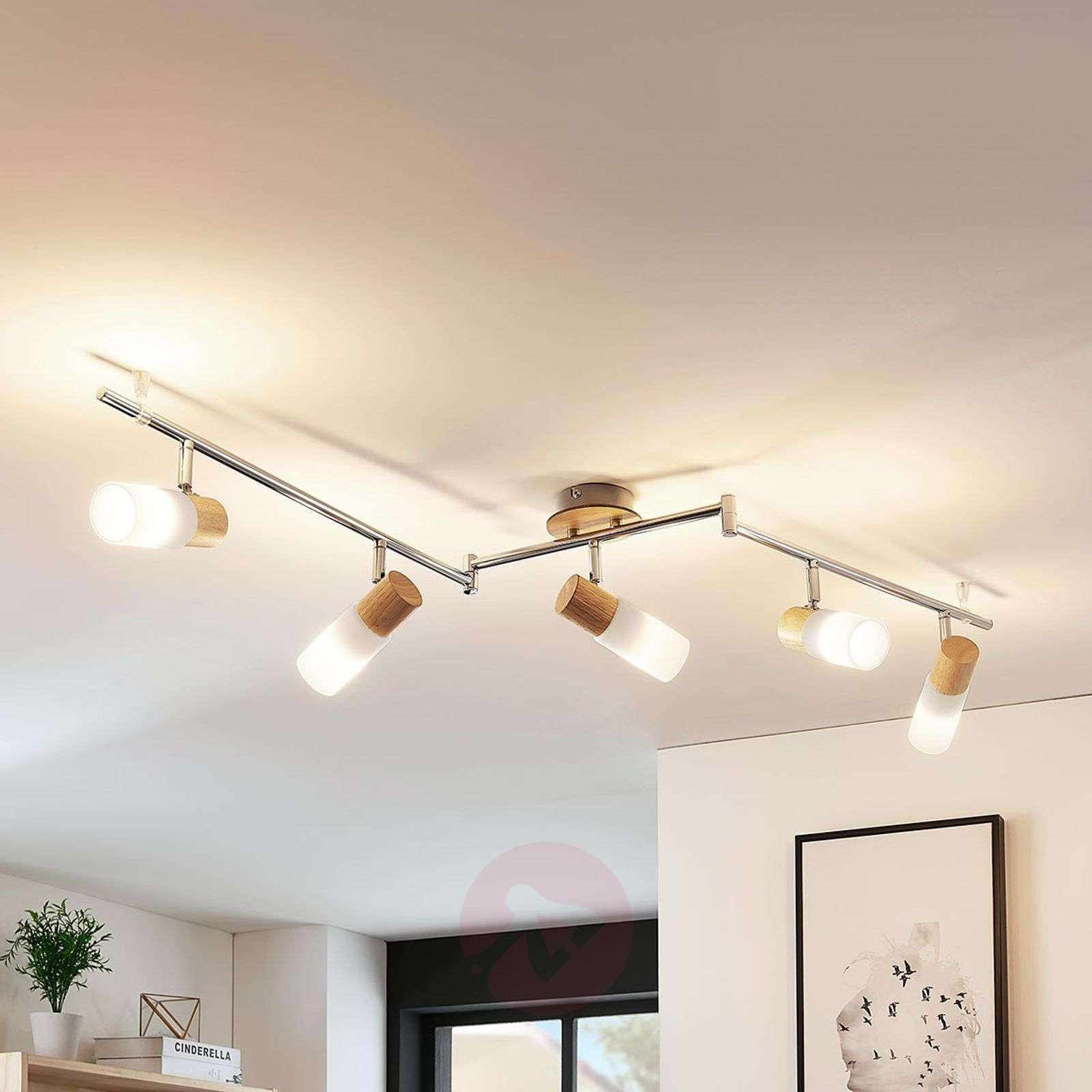 Kaunis LED-puukattokohdevalo Christoph, 5lamppua-9621829-012