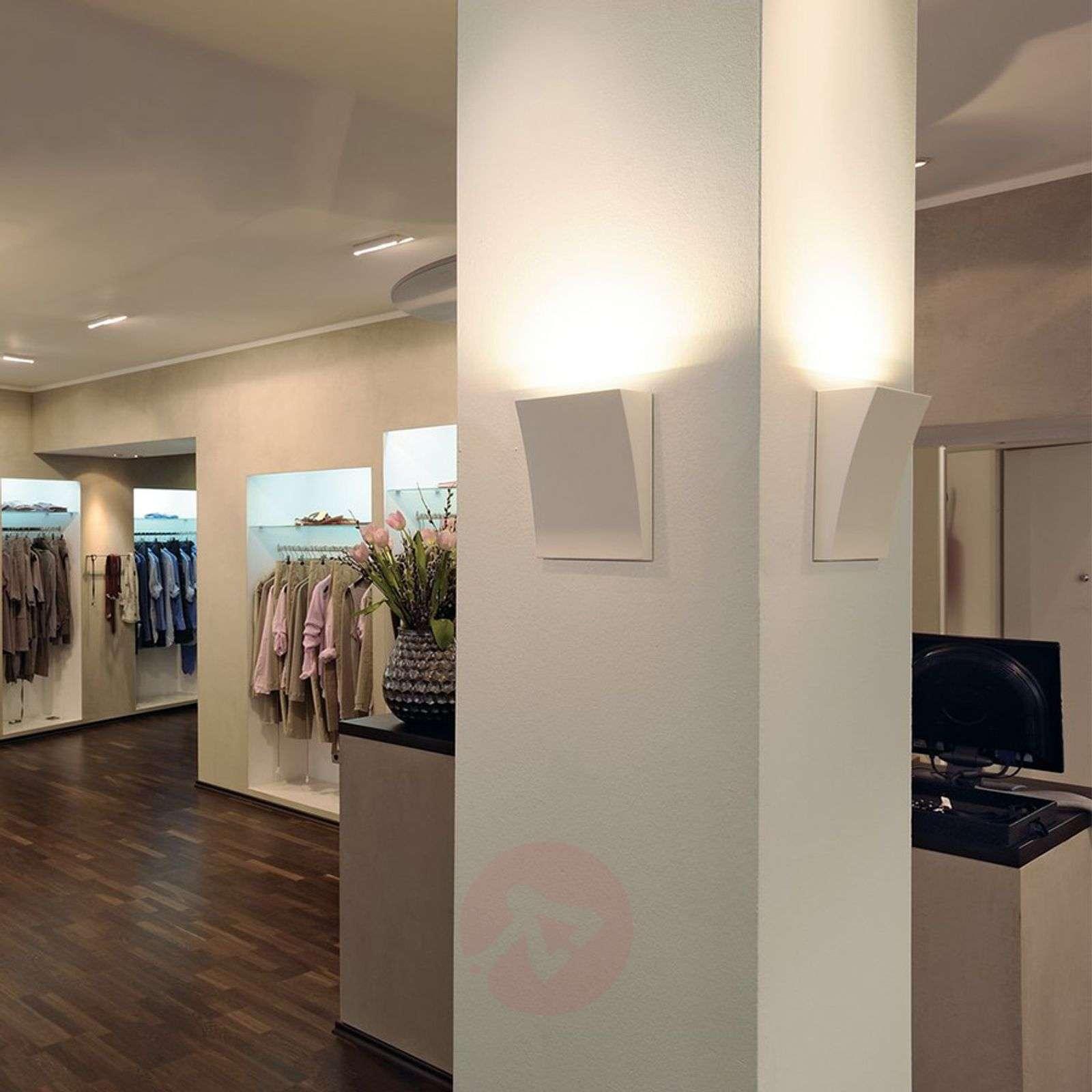 Kaunis LED-seinävalaisin DELWA WIDE, valkoinen-5504279-01