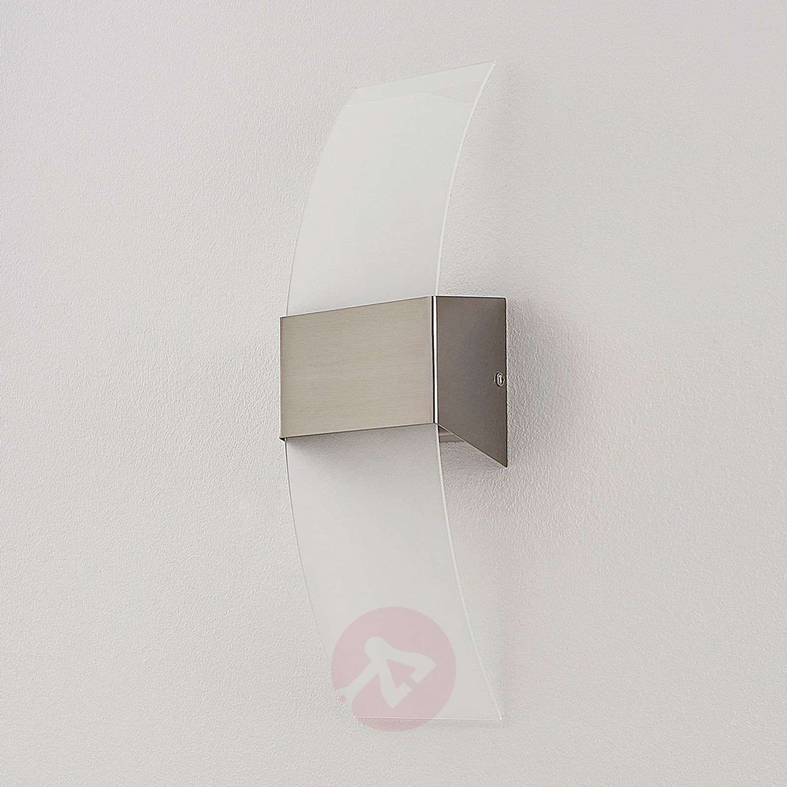 Kaunis LED-seinävalaisin Harry, matta nikkeli-9620386-011