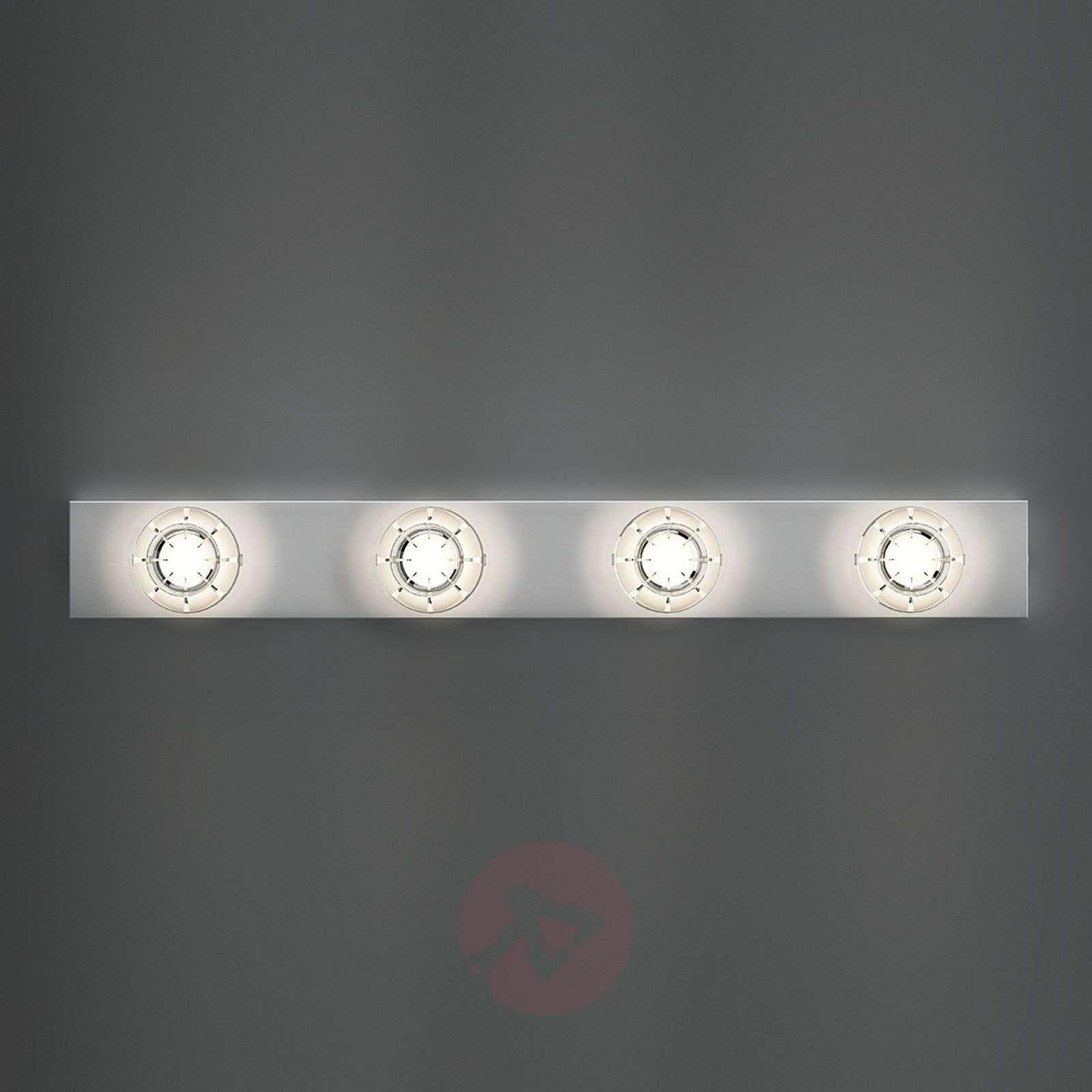 Kaunis LED-seinävalaisin Puns, kromi, 4 lamppua-6708020-01