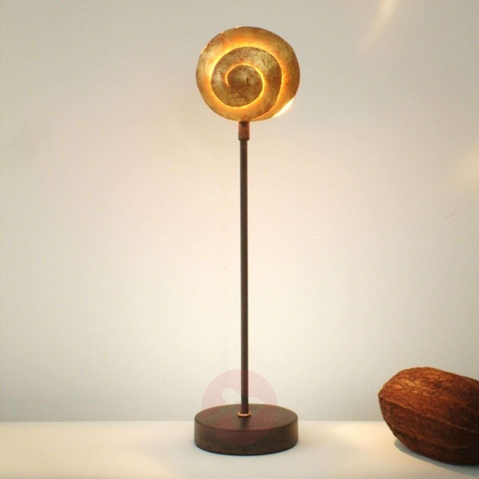 Kaunis rautainen pöytävalaisin Schnecke Gold-4512085-01