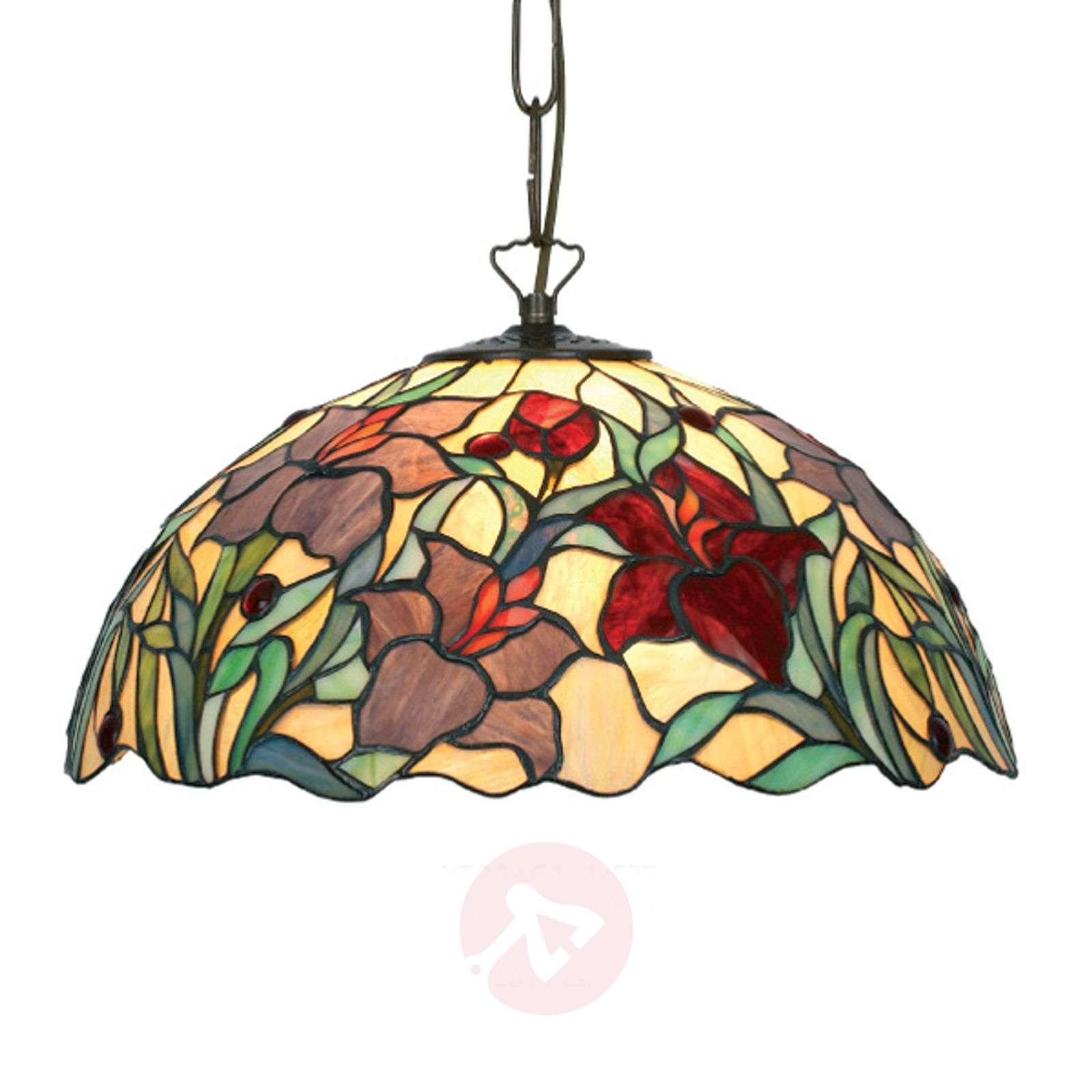 Kaunis Tiffany-tyylinen Athina-riippuvalaisin-1032136X-01