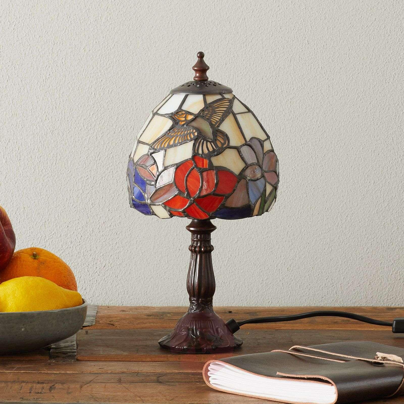 Kaunis Tiffany-tyylinen IRENA-pöytävalaisin-1032195-01