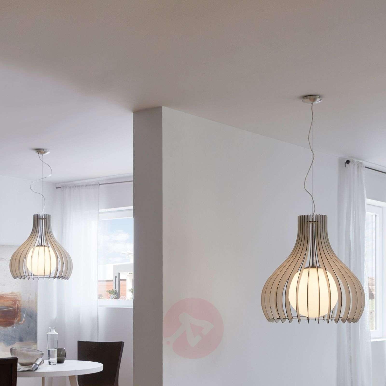 Kaunis Tindori-riippuvalaisin puulamelleilla-3031821-02