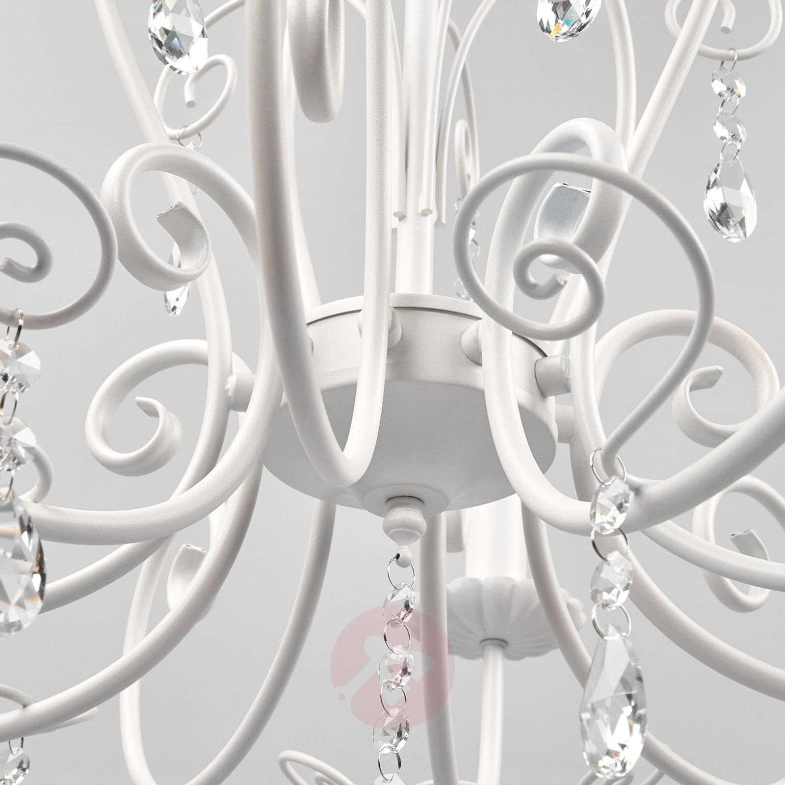Kaunis valaisin Sophina kristallilla, valkoinen-9639027-01