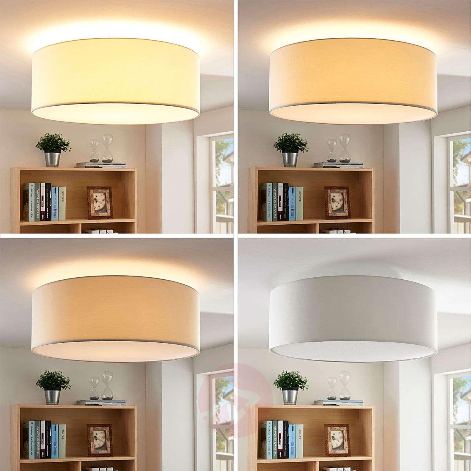 Kermanvärinen LED-tekstiilikattolamppu Dora-9621696-02