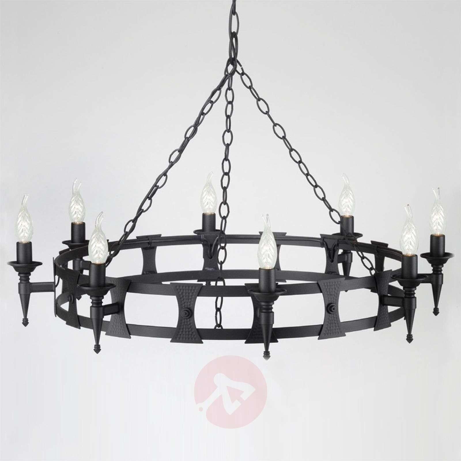 Keskiaikainen kahdeksan lampun SAXON-kattokruunu-3048051X-01