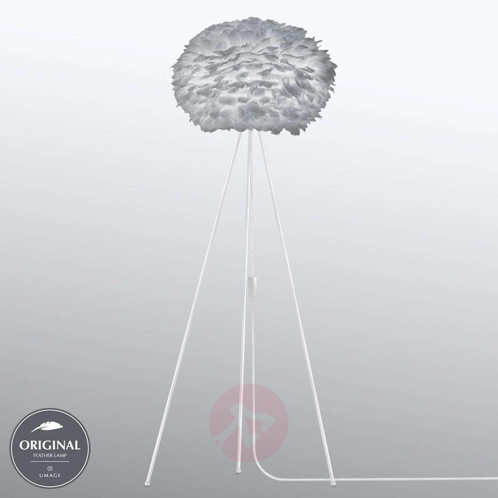Keskisuuri 3-jalkainen lattiavalaisin Eos v.harmaa-9521125-01