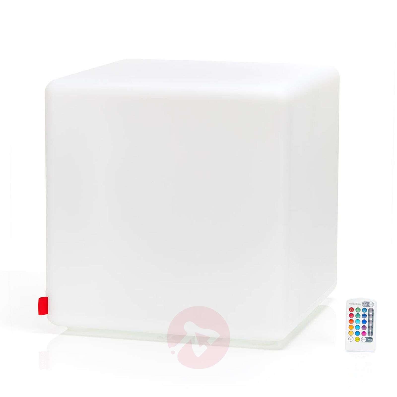 Kiehtova ulkokoristevalaisin Cube LED Accu Outdoor-6537082-02
