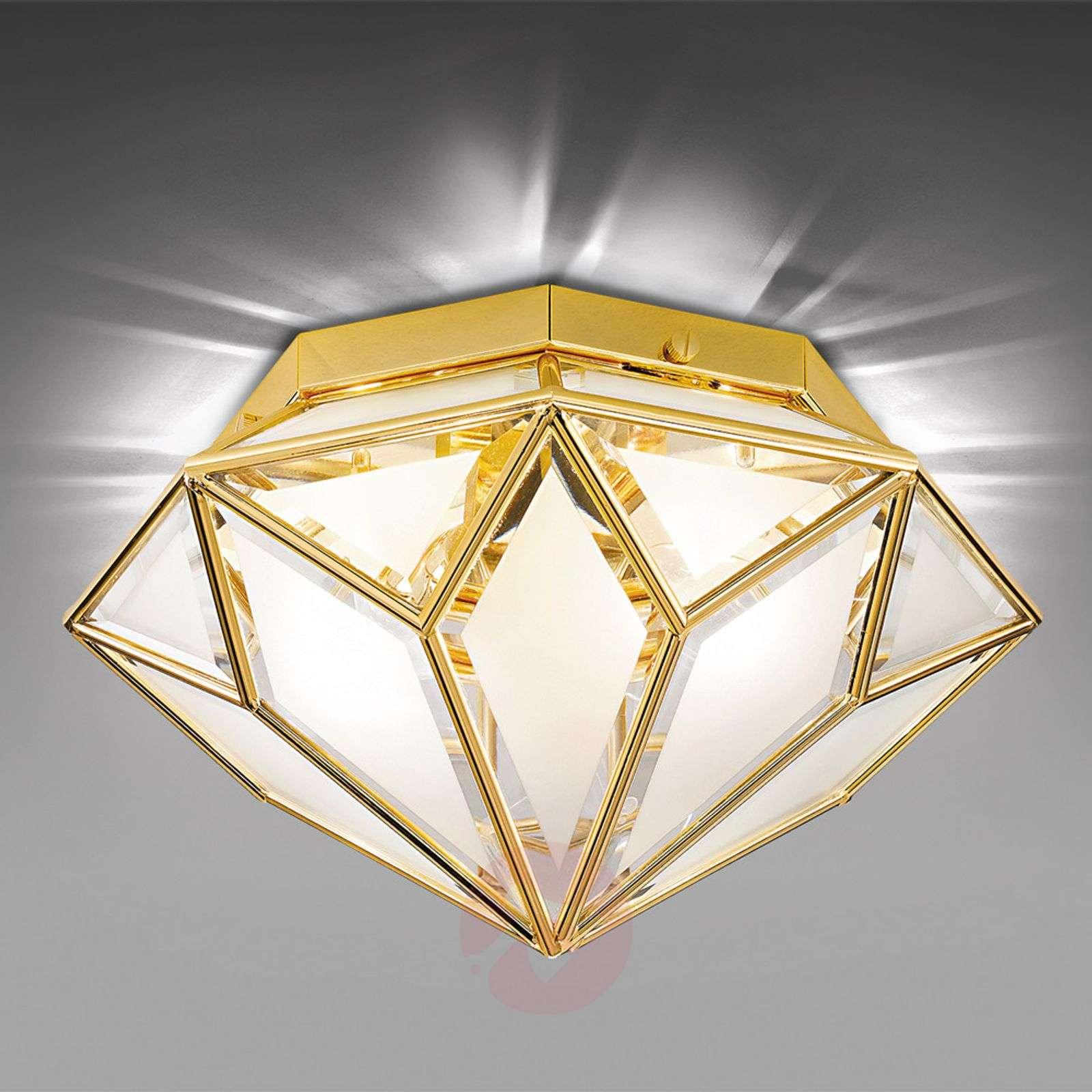 Kiiltävä kattovalaisin Oro, 2-lamppuinen-2008215-01