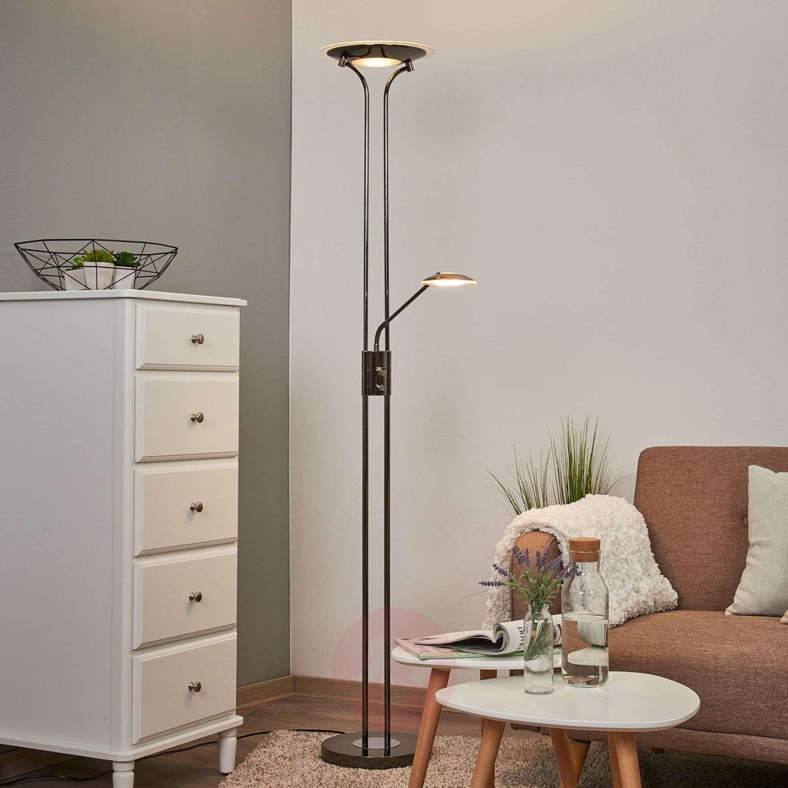 Kiiltävä ylössuunnattu LED-valo Aras, musta kromi-9945226-01