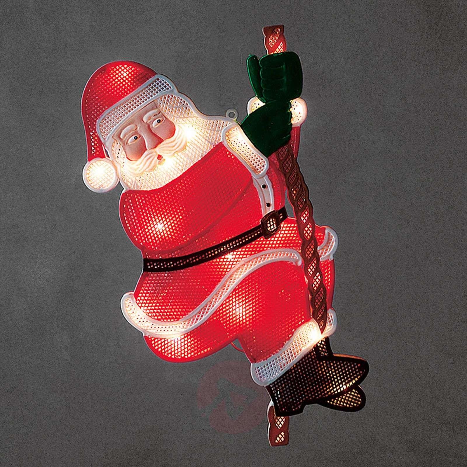 Kiipeävä joulupukki LED-ikkunakuva-5524847-01