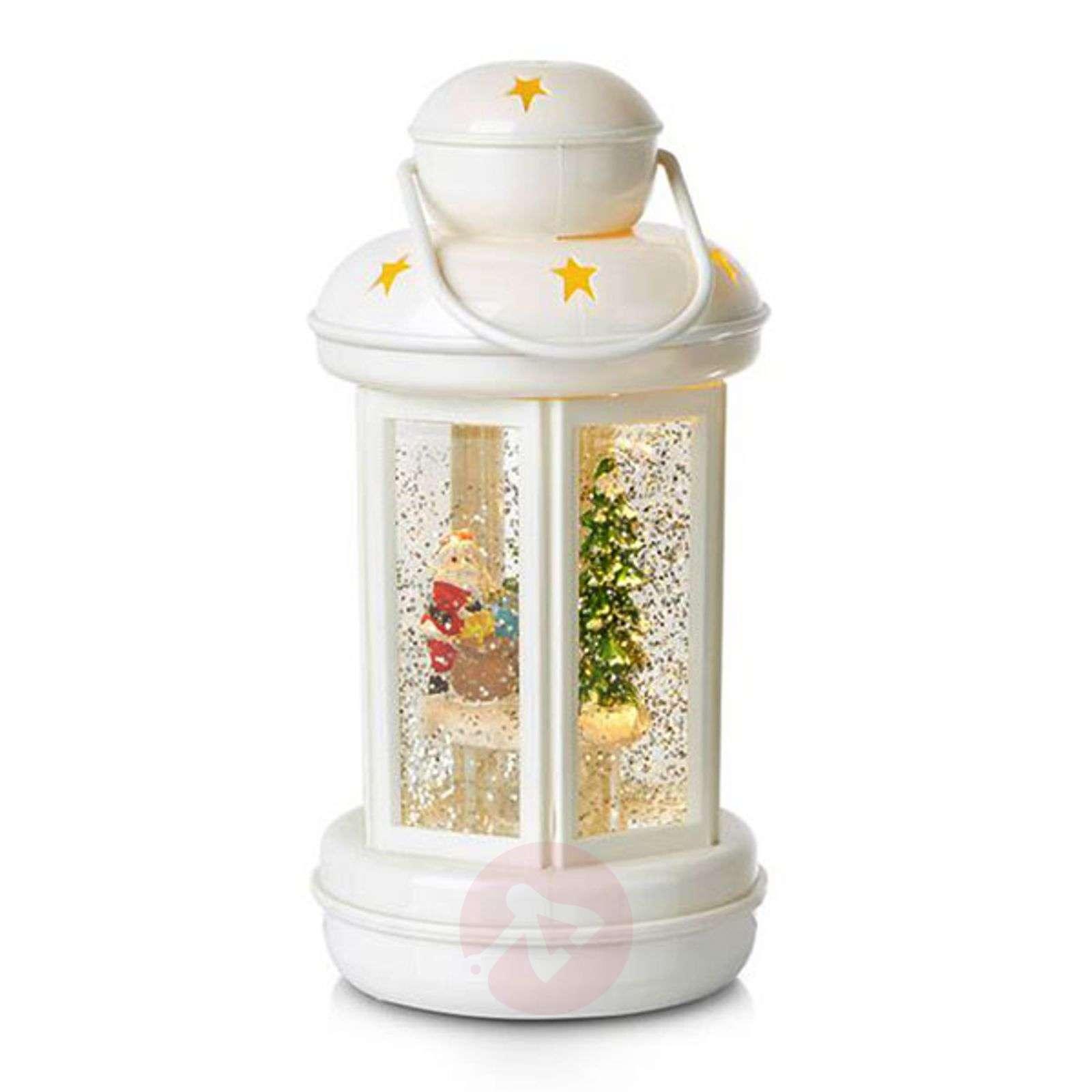 KImalteiden täyttämä koristelyhty Cosy LED, valk.