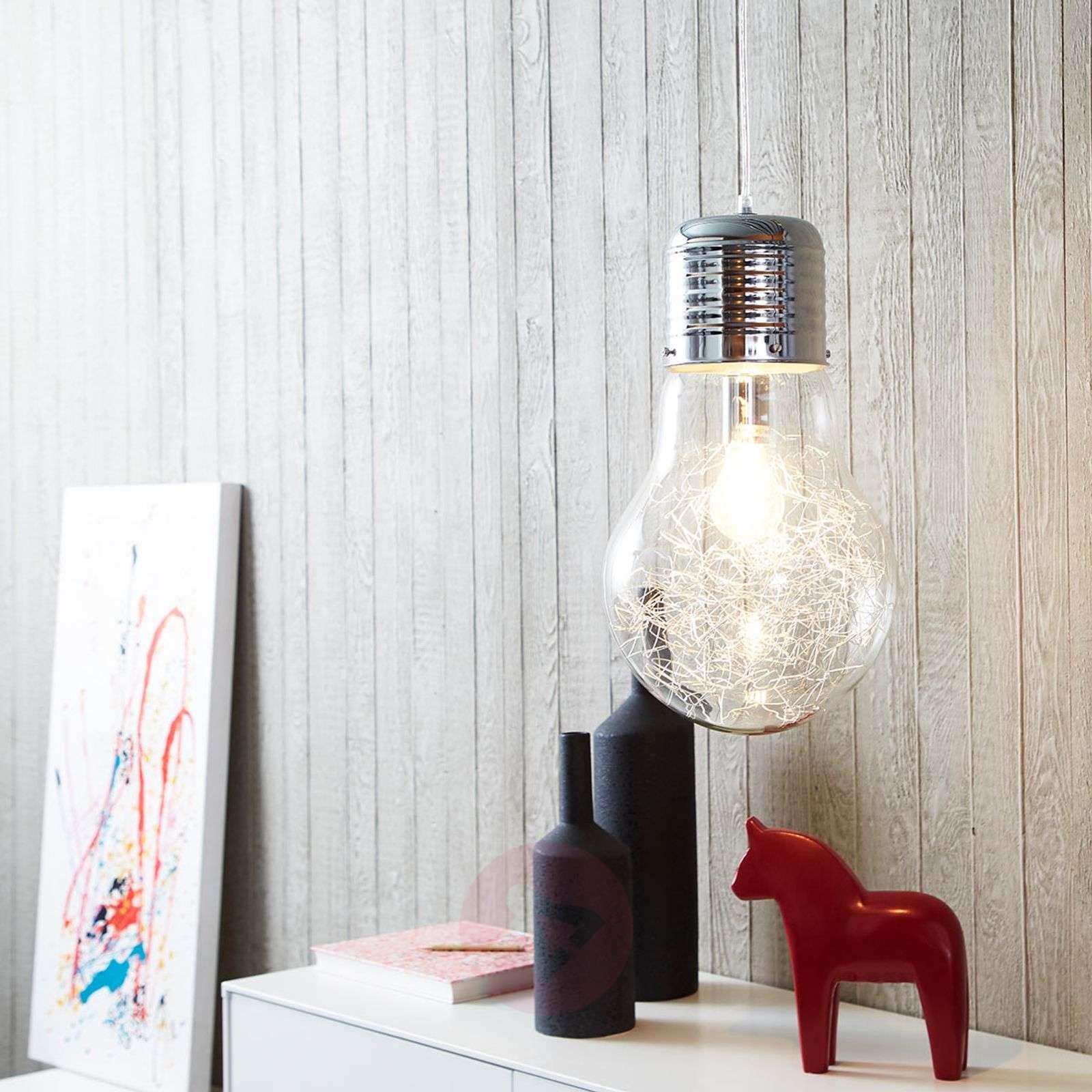 Kimalteleva lasiriippuvalaisin Bulb, kromi-1509410-01