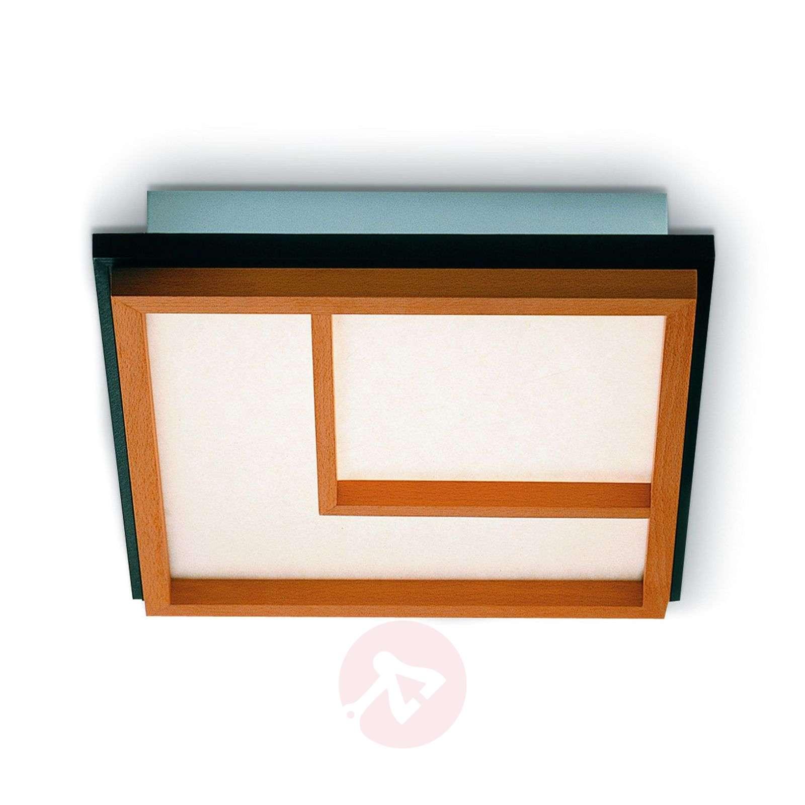 Kioto 2 pyökkipuinen LED-kattolamppu-2600514-01