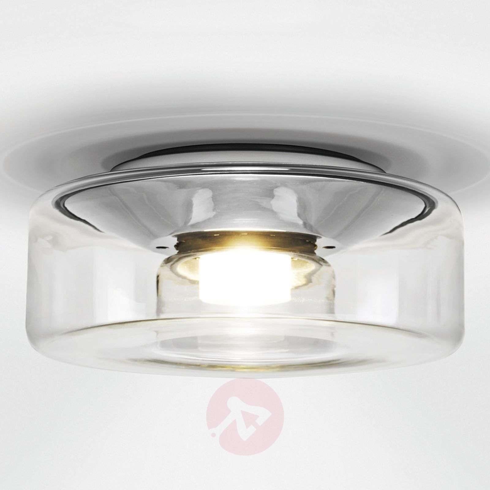 Kirkas lasivarjostin LED-kattovalaisin Curling M-8550045-01