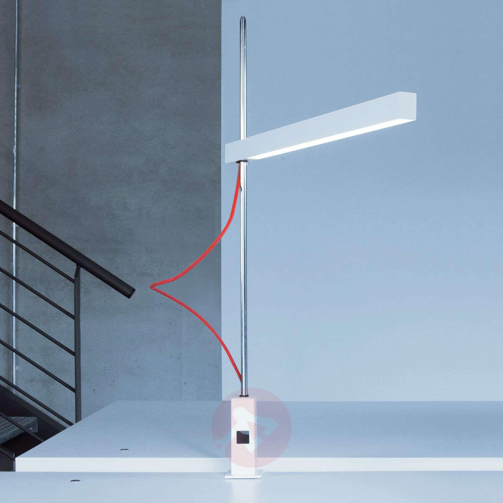 Kirkas LED-klipsivalaisin Travis-T1 punainen johto-6033541-01