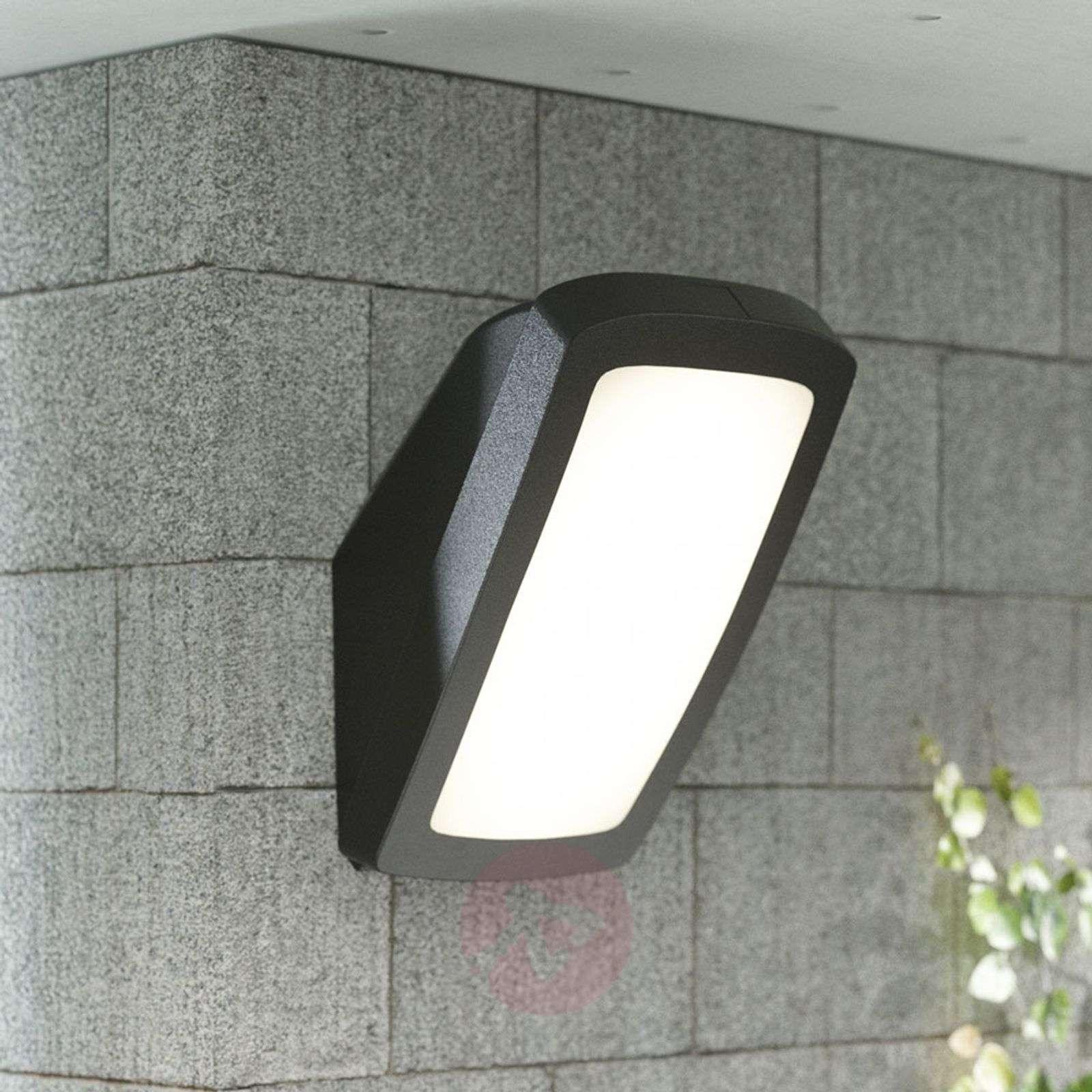 Kirkas ulkoseinävalaisin Germana LED 14W, musta-3538094-01