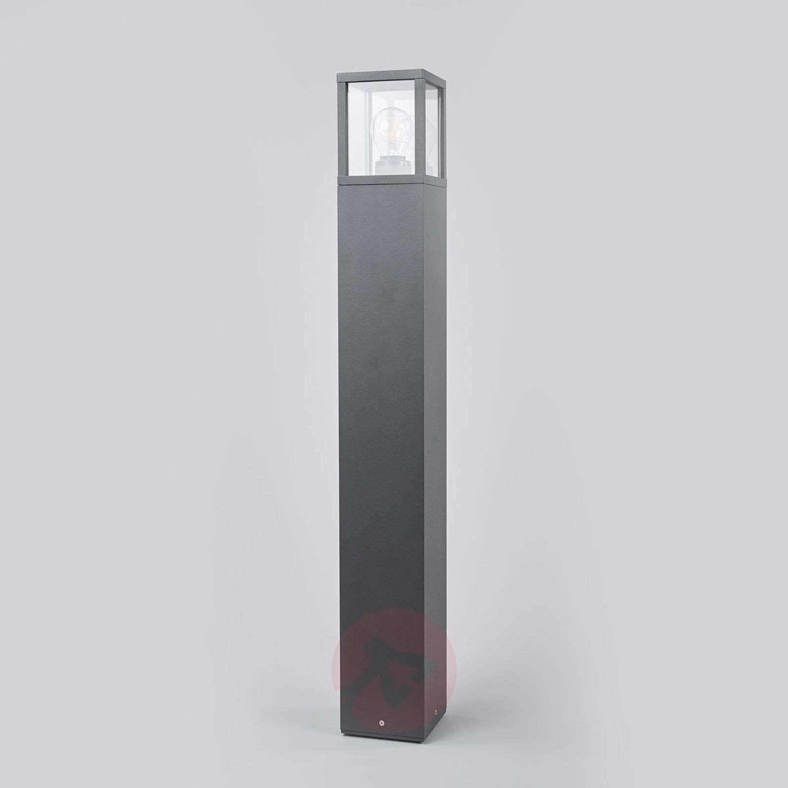 Klemens-pylväsvalaisin, grafiitti, korkeus 90 cm-9616127-01