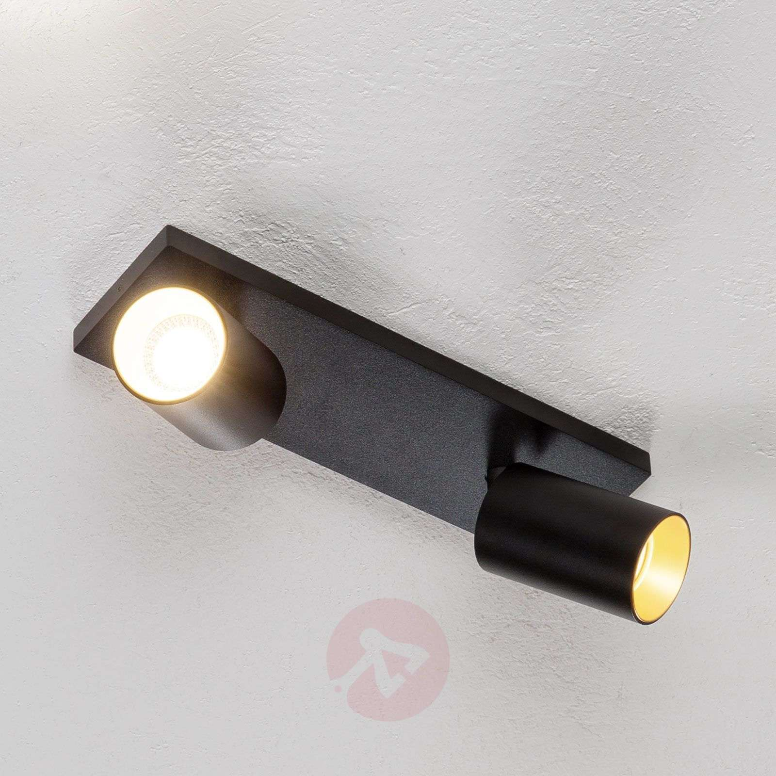 Kohdevalo Brinja GU10 musta 2 lamppua-9928018-01