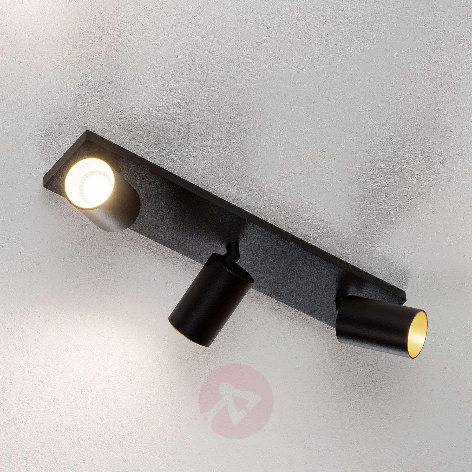 Kohdevalo Brinja GU10 musta 3 lamppua-9928019-01