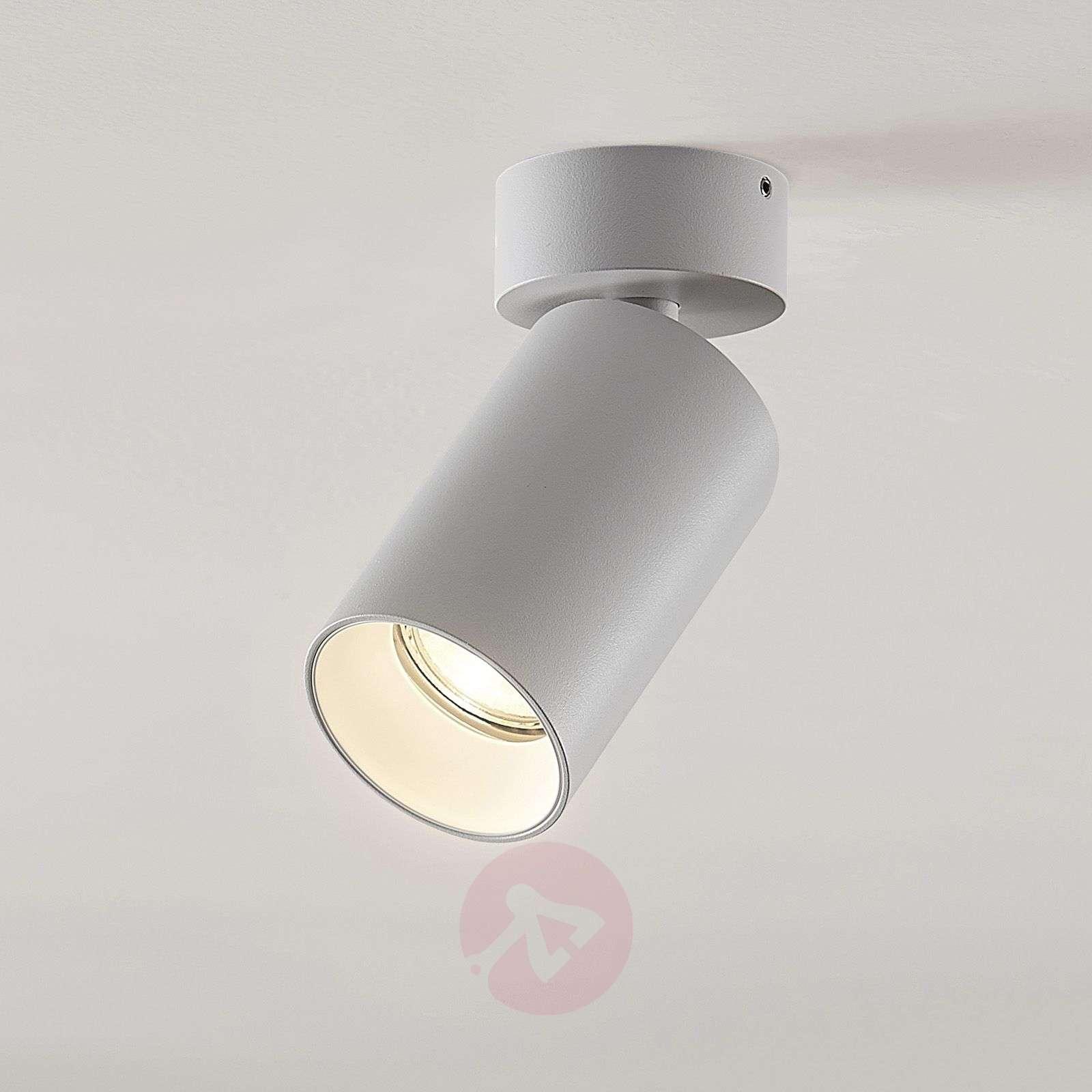 Kohdevalo Brinja GU10 valkoinen 1 lamppu pyöreä-9928015-01