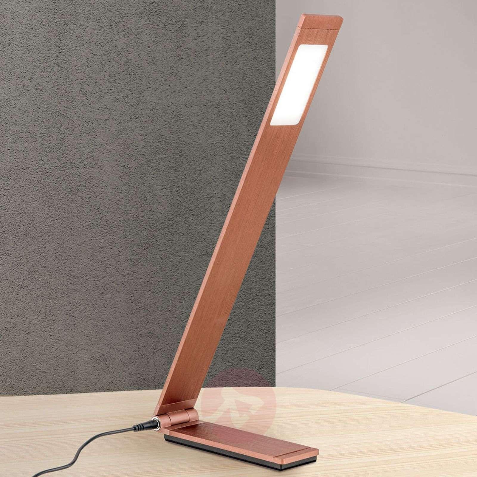 Kokoon taittuva LED-pöytävalaisin Neville, pronssi-7255322-01