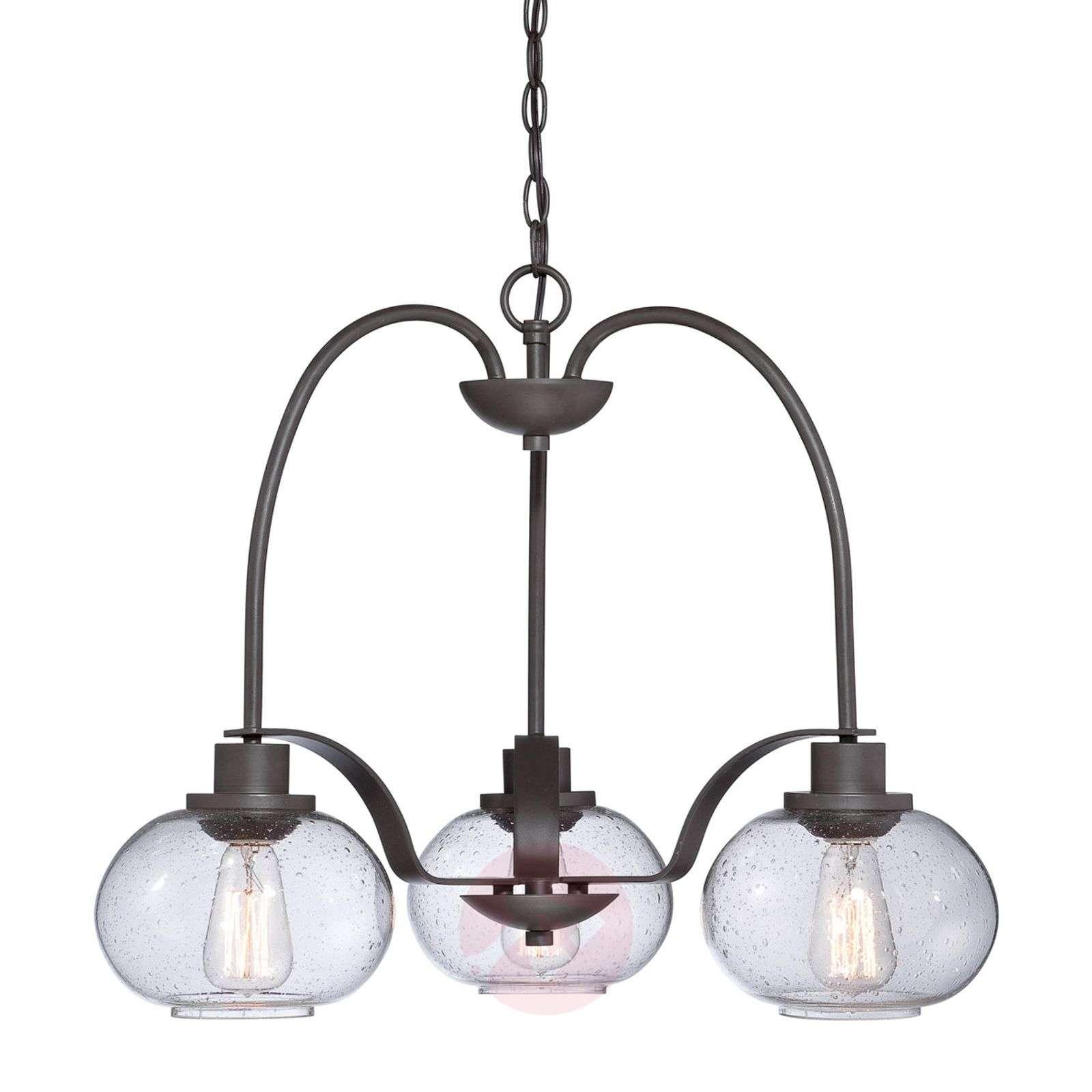 Kolmen lampun Trilogy-vintage-kattokruunu