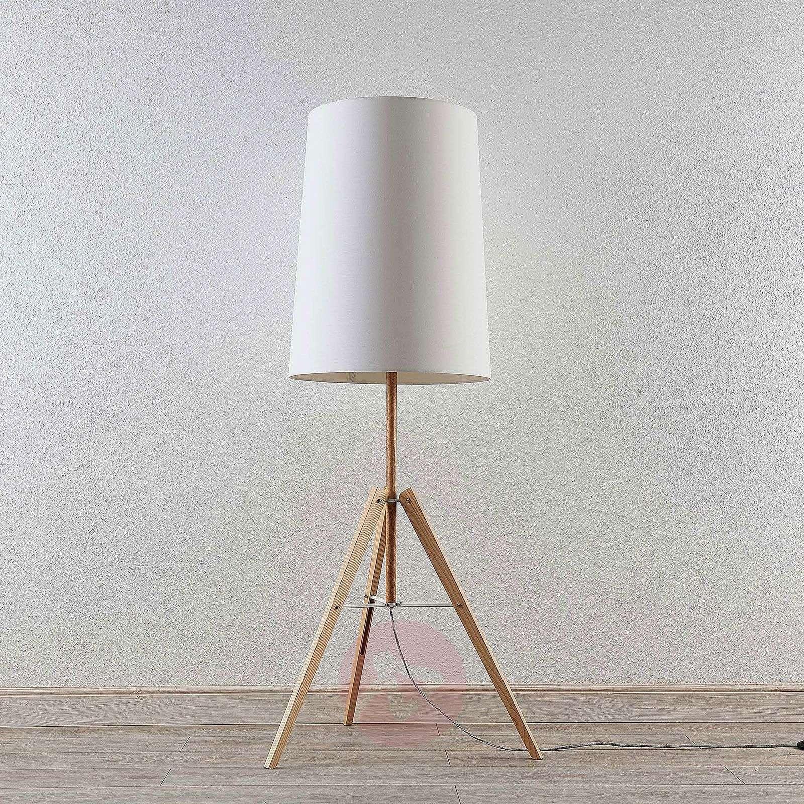 Kolmijalk. lattialamppu Feyra pyöreä valkoinen-9624421-01