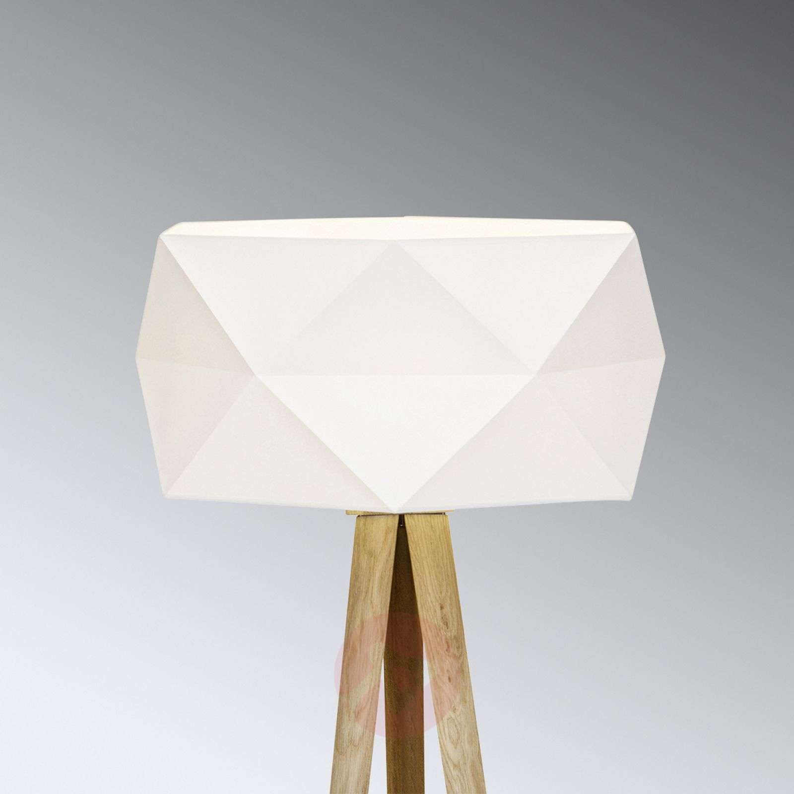 Kolmijalk. Polygon-lattiavalaisin, kangasvarjostin-1509205-01