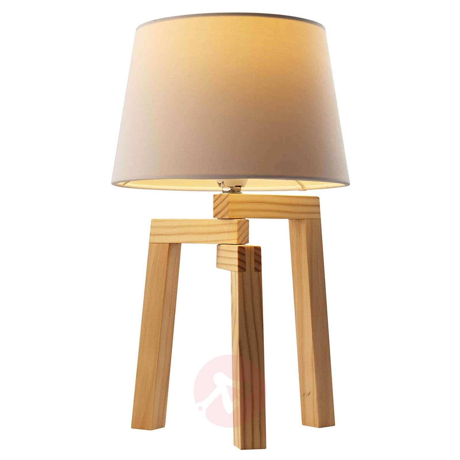 Kolmijalkainen Montana-pöytälamppu vaaleaa tammea-7007640-01