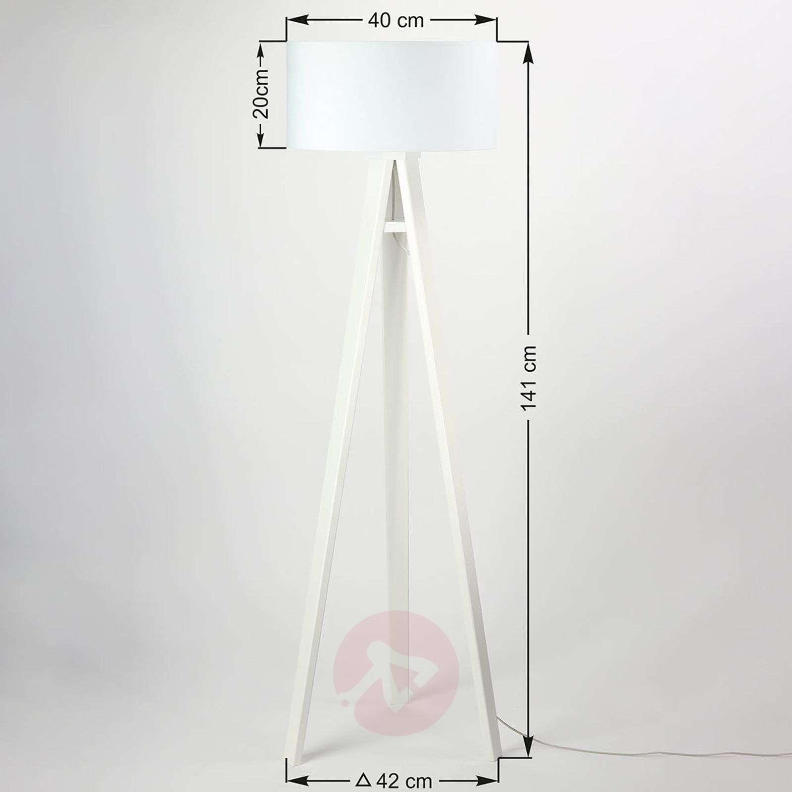Kolmijalkainen puinen lattiavalaisin Marlon-6728092-01