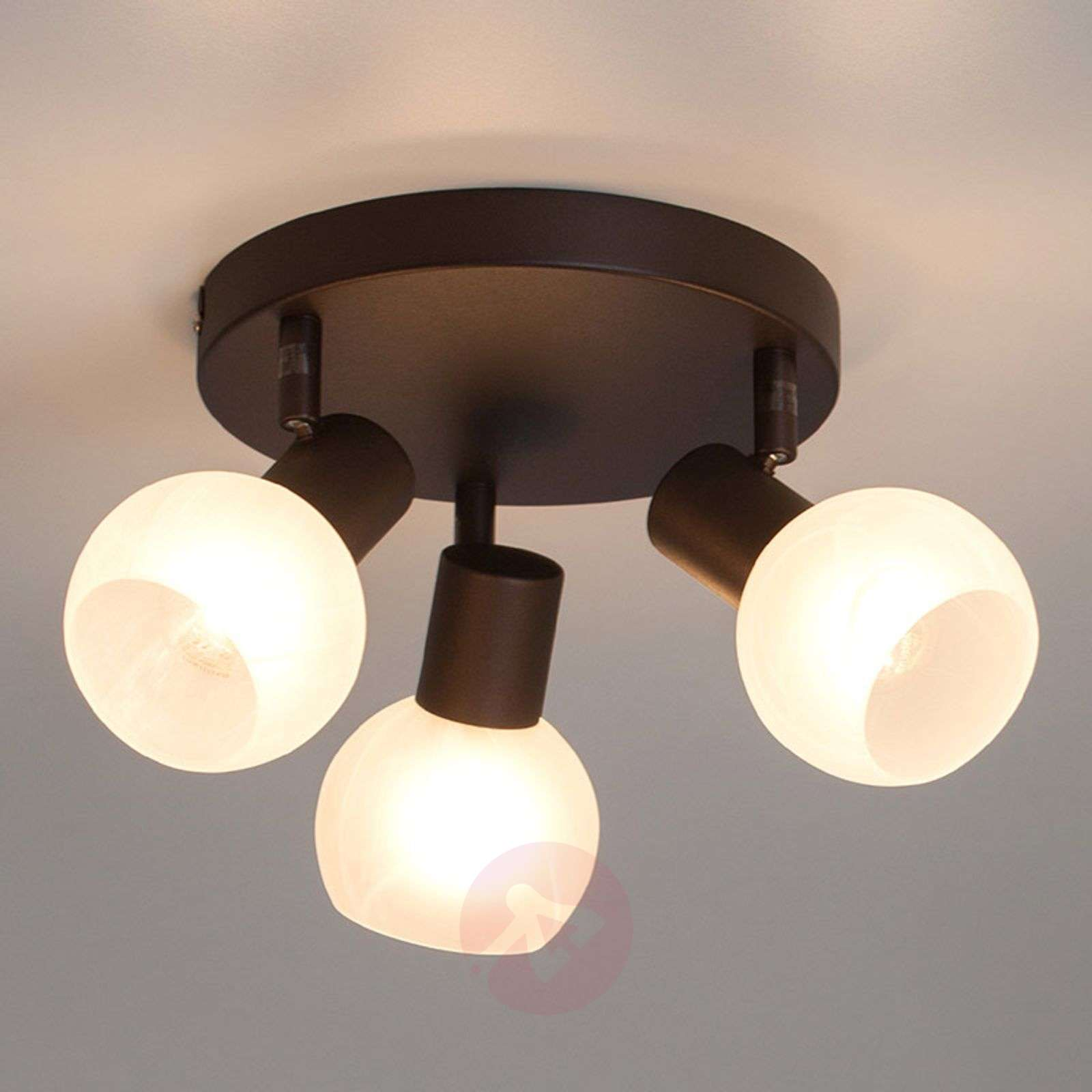 Kolmilamppuinen Gabon spottiplafondi-1508855-01