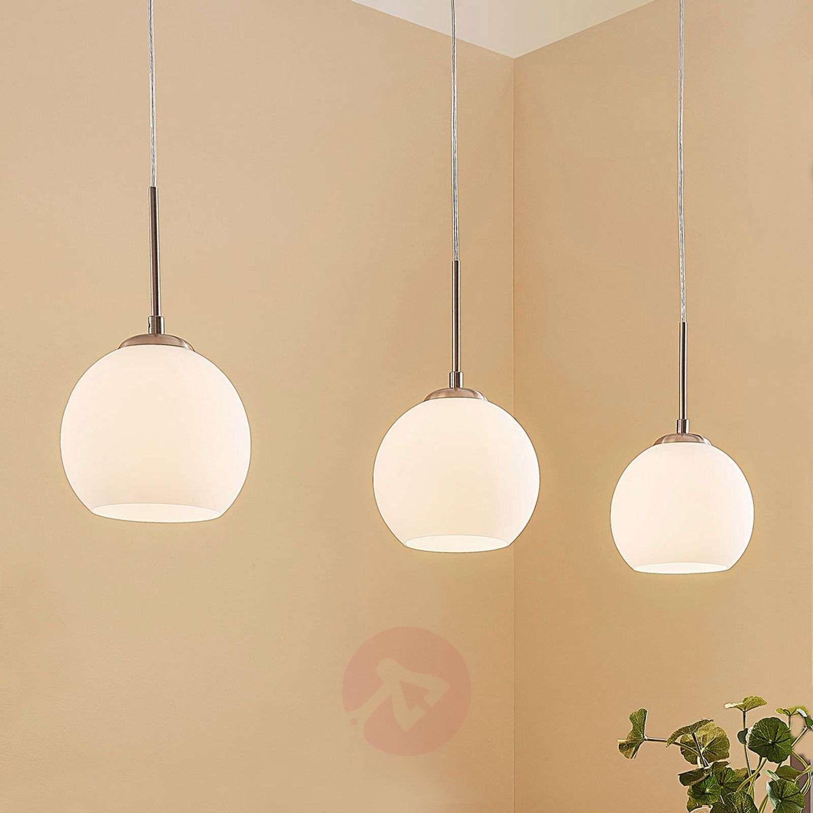 Kolmilamppuinen lasinen riippuvalaisin Eloy-9621790-01