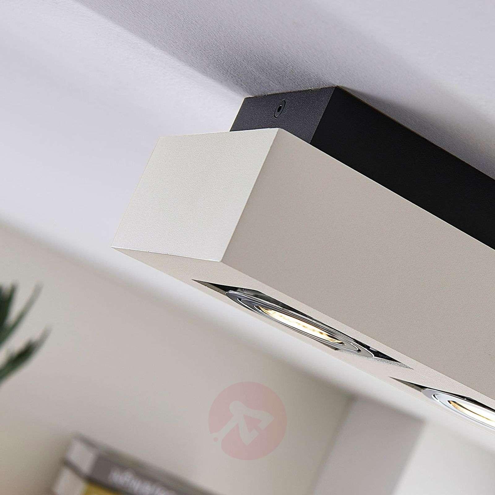 Kolmilamppuinen LED-kattovalaisin Vince valkoisena-9620458-01