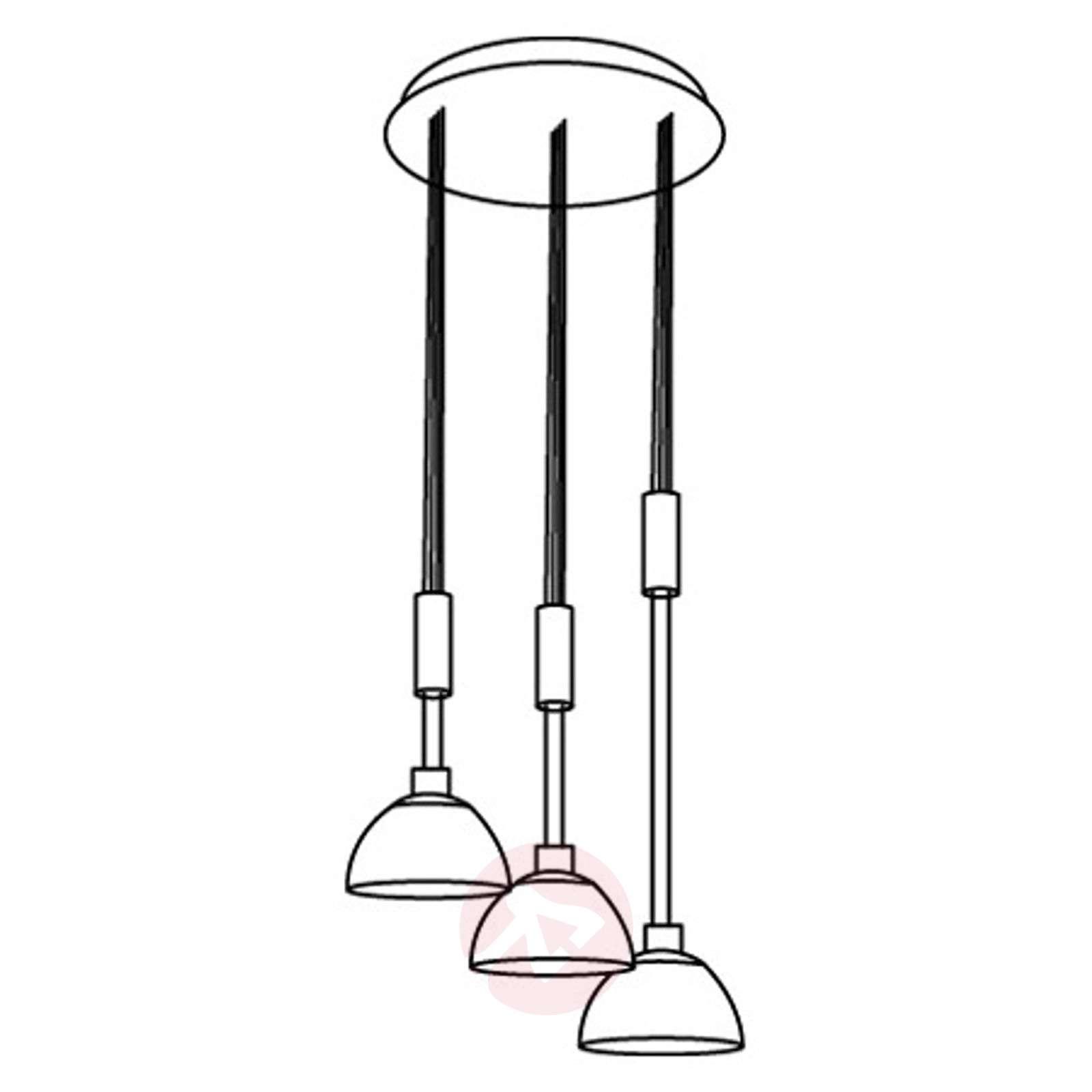 Kolmilamppuinen LED-riippuvalaisin Montefio-3031652-01