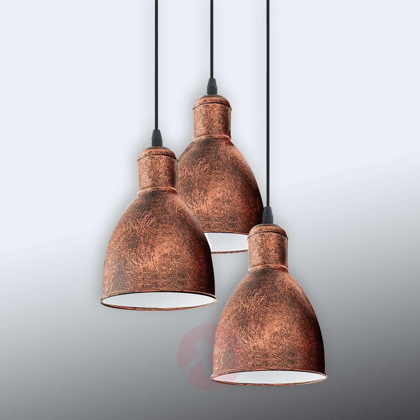 Kolmilamppuinen Priddy 1-riippuvalaisin, vintage-3031784-01