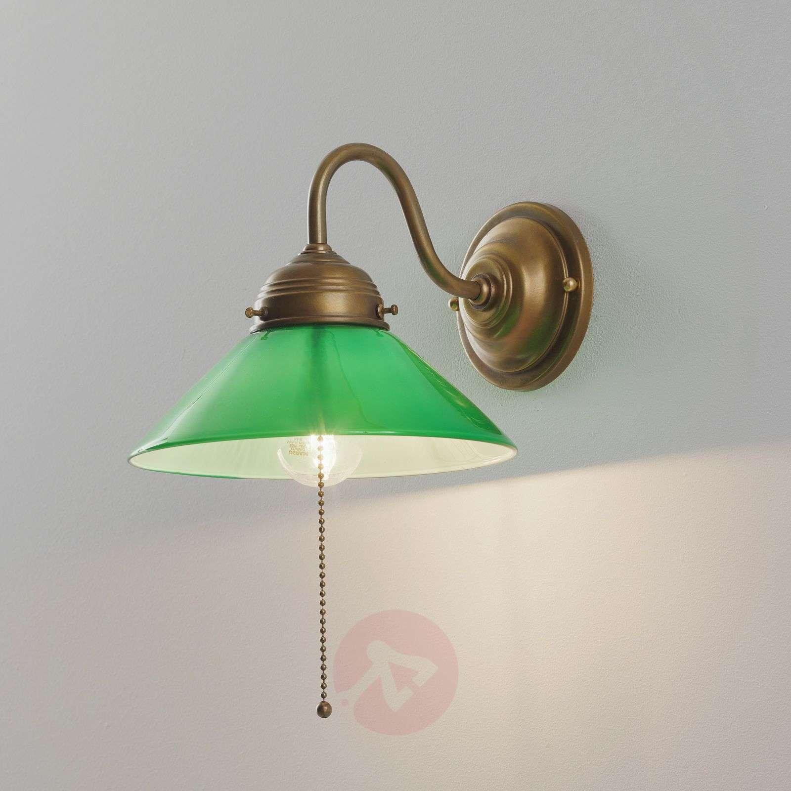 KONRAD-seinävalaisin vihreällä lasivarjostimella-1542032-01
