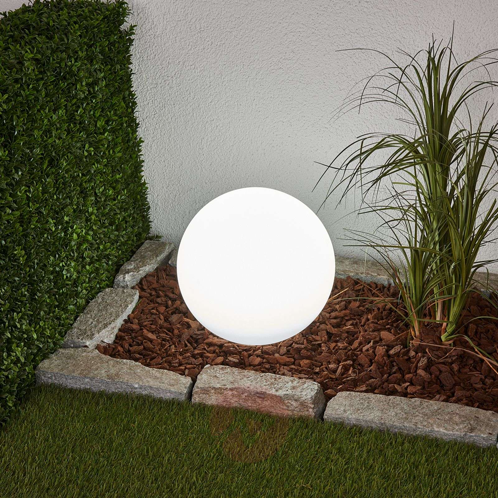 Koristeellinen Lago LED-aurinkovalaisin, pyöreä-4018064-02