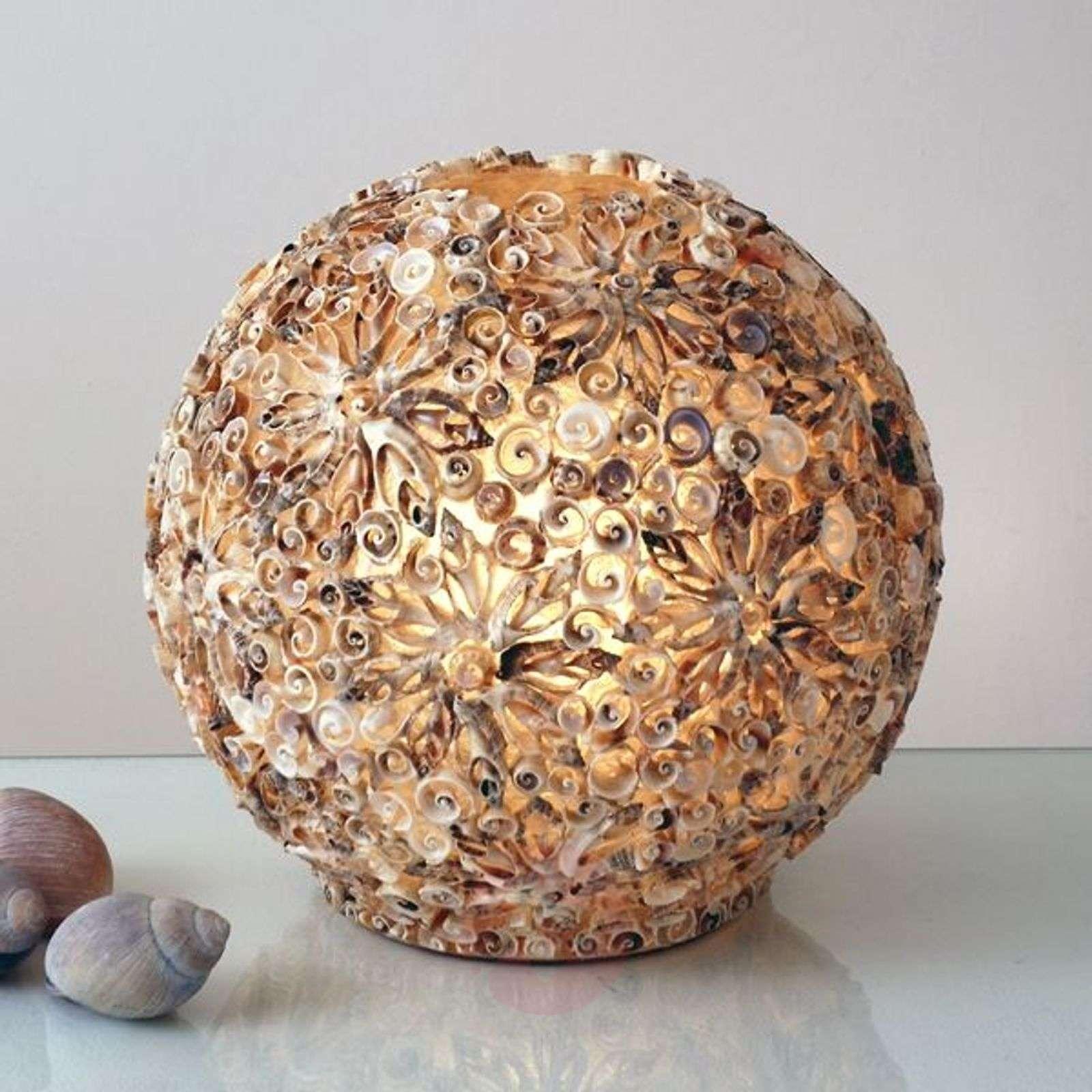 Koristeellinen pöytävalaisin simpukkapallo-4512185X-01