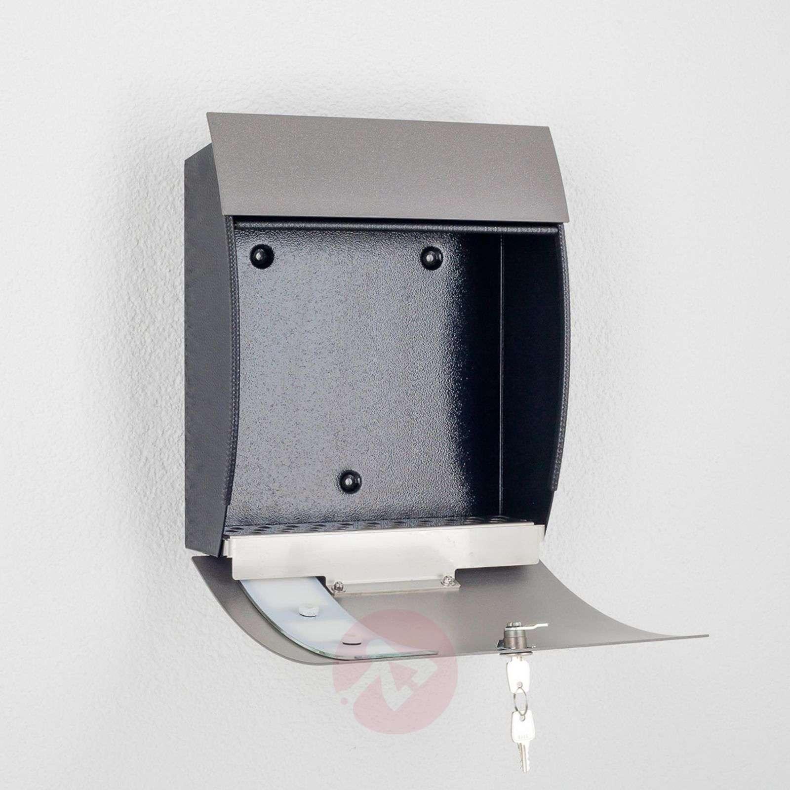 Korkealaatuinen Nila-postilaatikko, antrasiitti-2011116-01