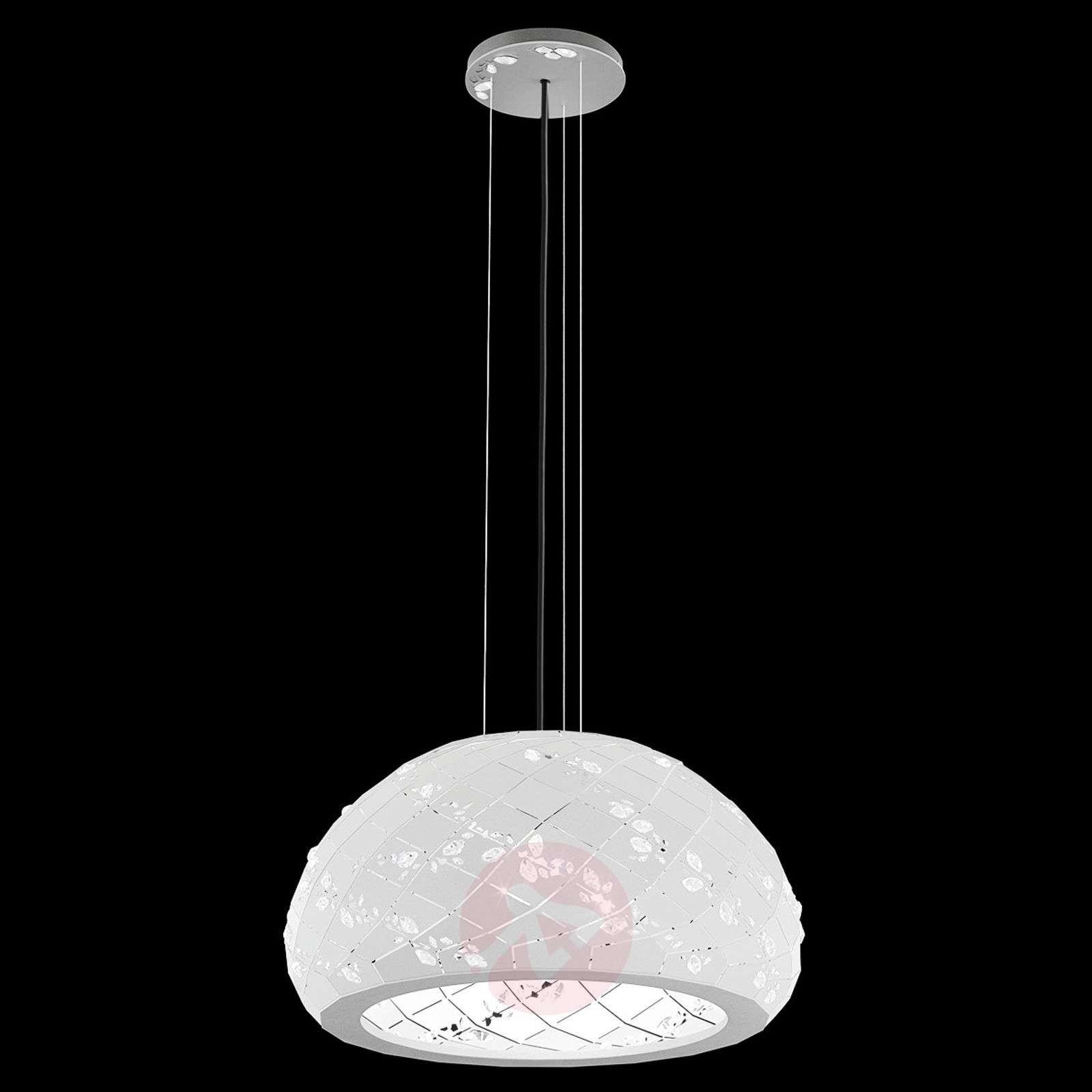 Kristallikoristeinen Apta-riippuvalaisin 53cm-8578015-01