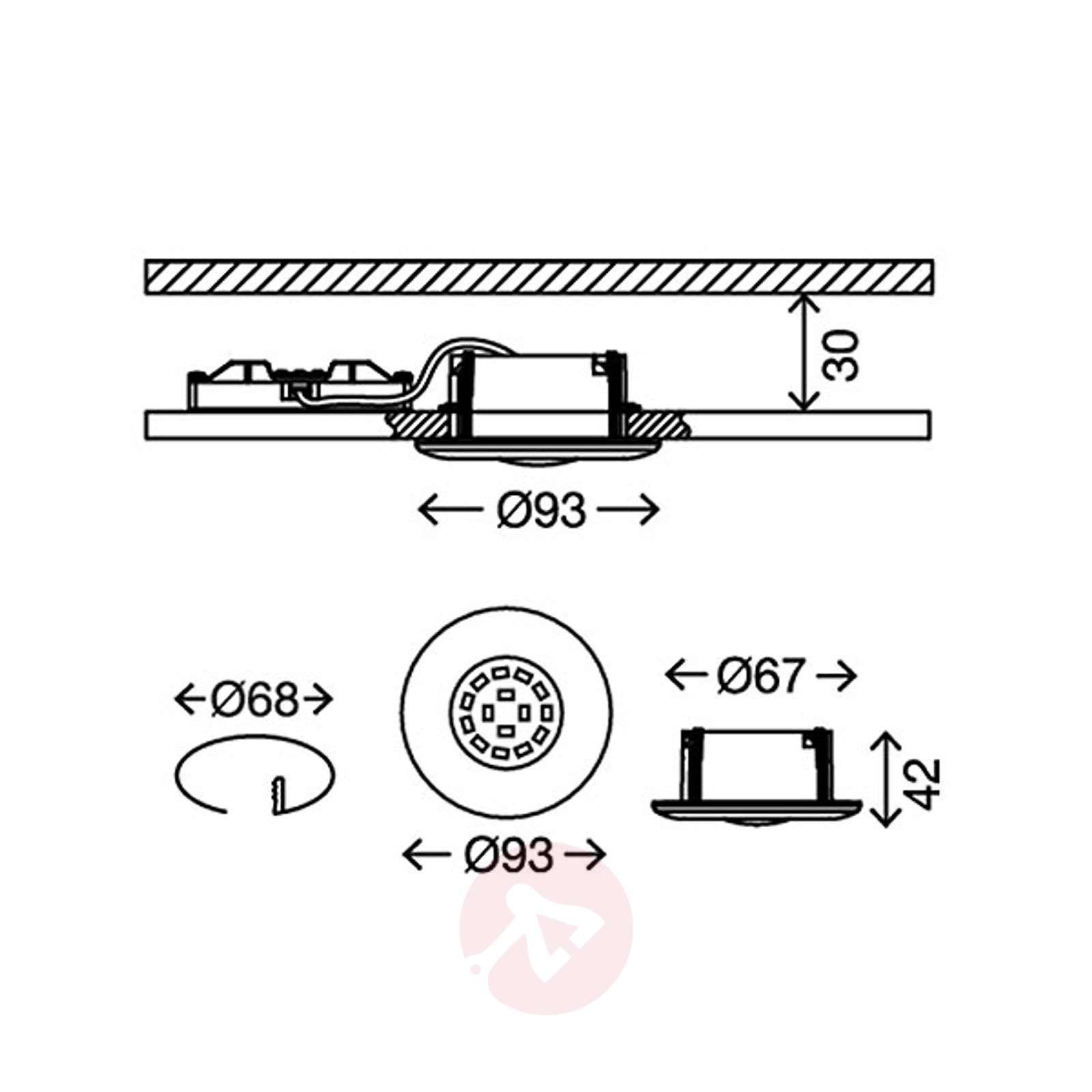 Kromattu Shower-LED-uppokohdevalaisin, IP65-1510317-01