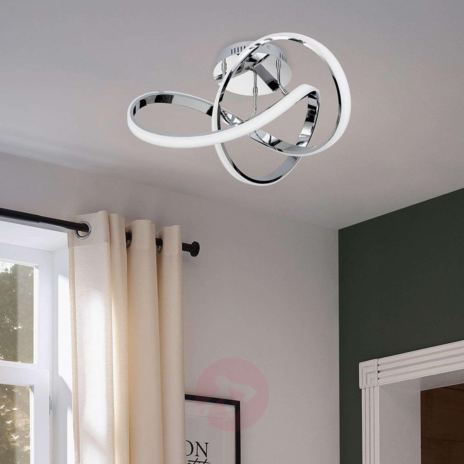 Krominhohtoinen LED-kattovalaisin Indigo-9652075-01