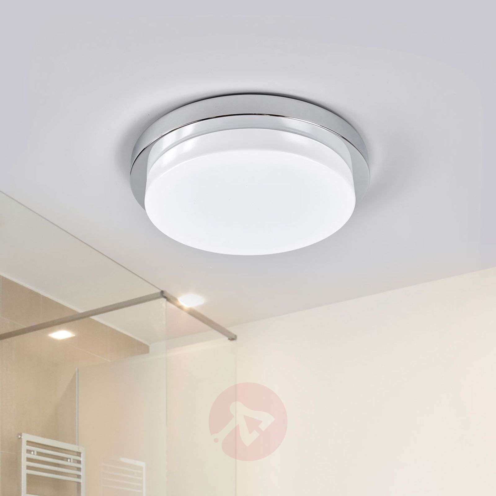 Krominkiiltävä LED-kattovalaisin Cordula, IP44-9641094-02