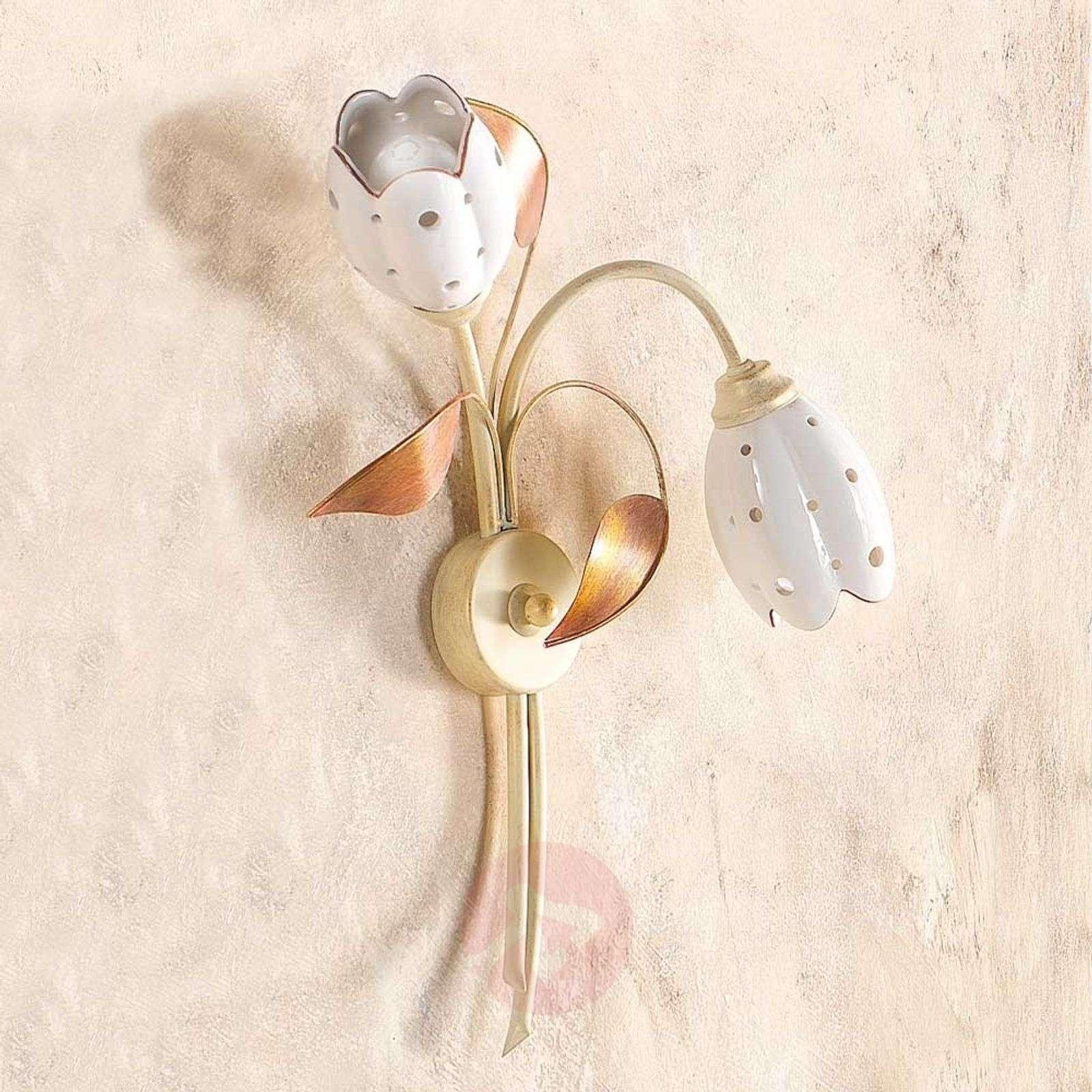 Kukkamainen seinävalaisin Tulipano, 2-lamppuinen-2013082-01