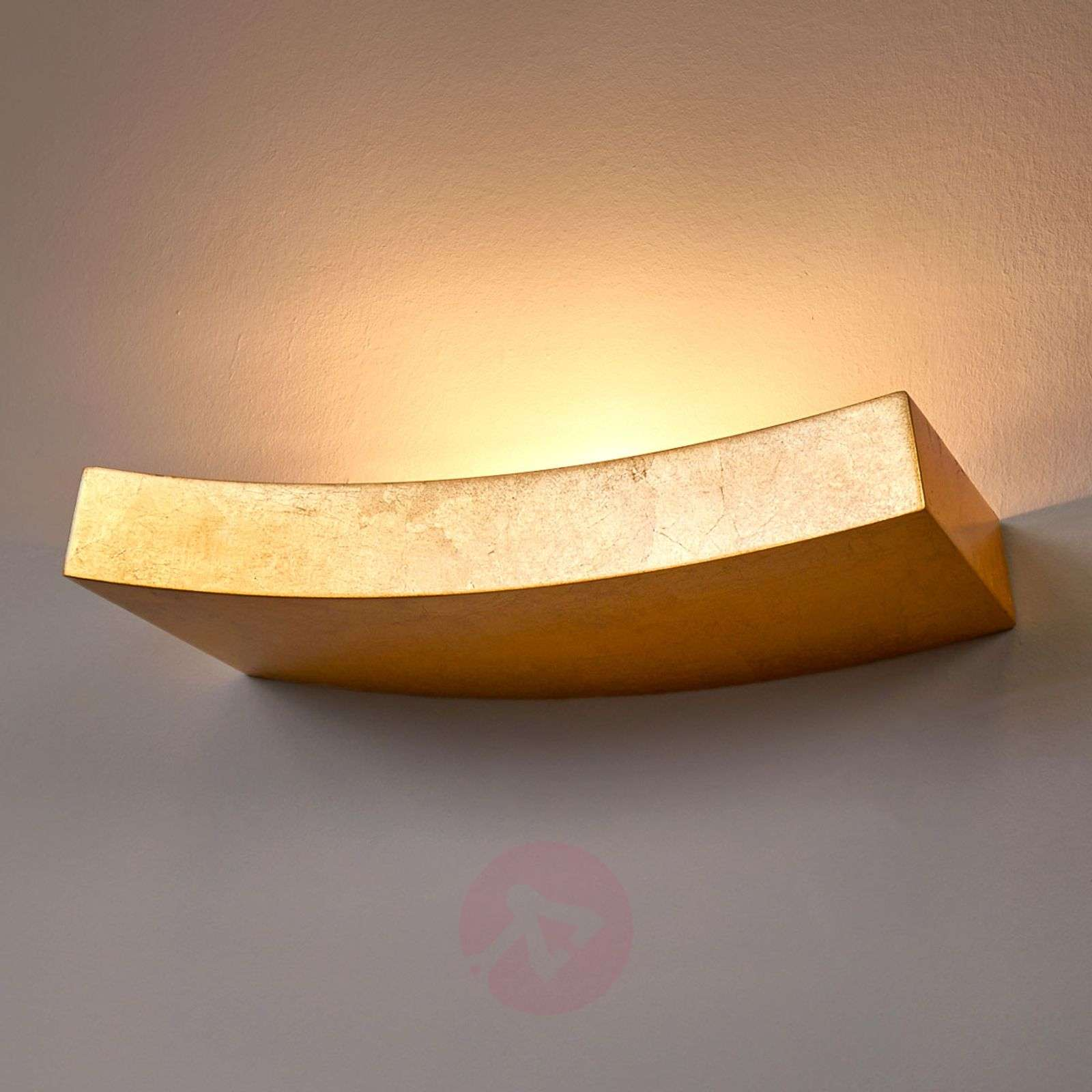 Kullanvärinen Berra-seinälamppu kaareva muoto-9613060-02