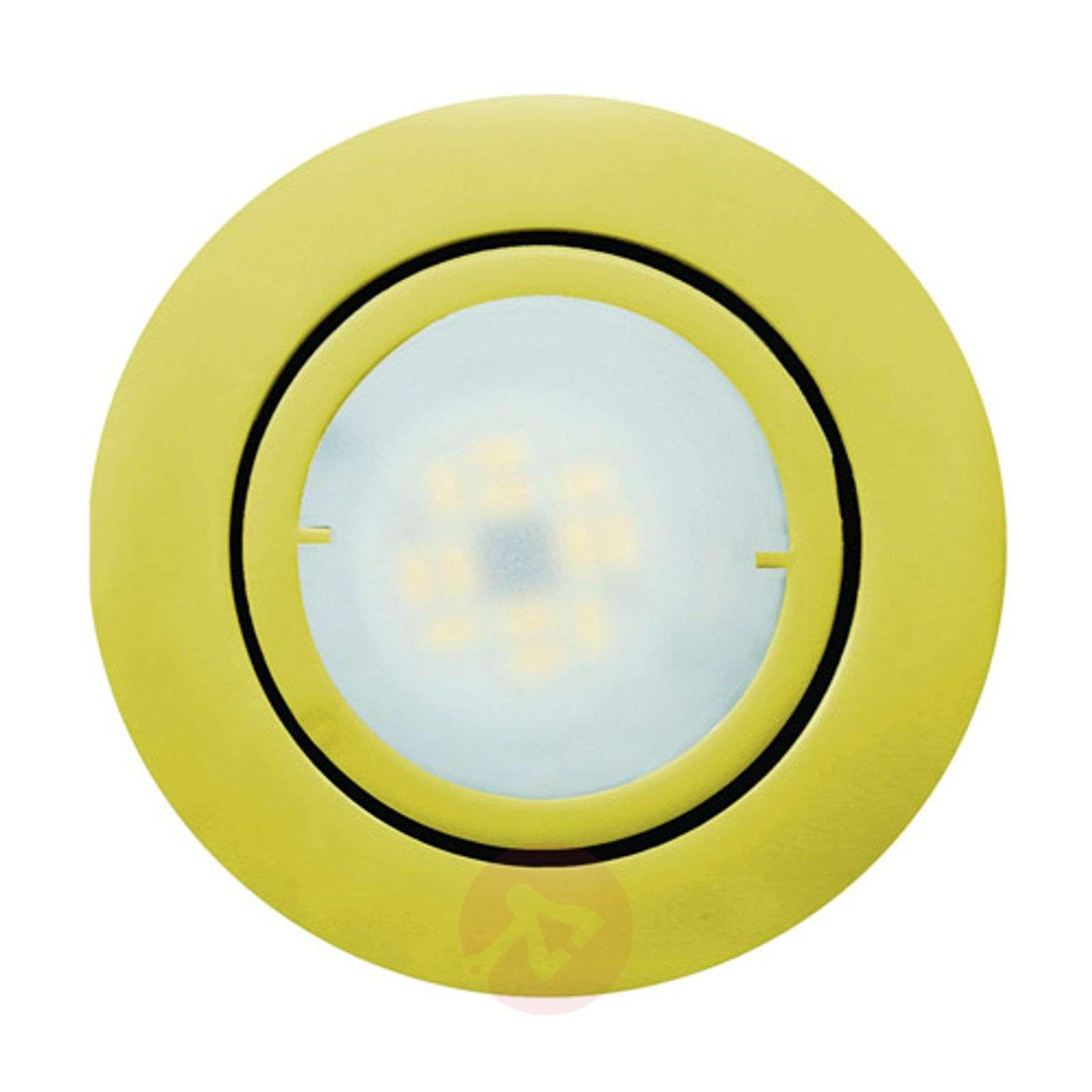 Kullanvärinen Joanie-LED-uppovalo, käännettävä