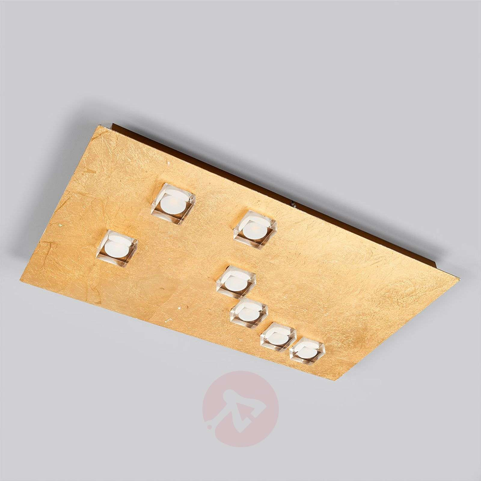 Kulmikas, kullanvärinen Codrin-LED-kattovalaisin-9994133-03